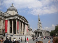 Trafalgar Square National Gallery London