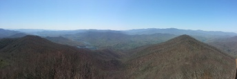 View from the top of the shaky firetower