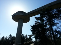 The spaceship (and the view) atop Clingman's Dome. The highest point on the AT