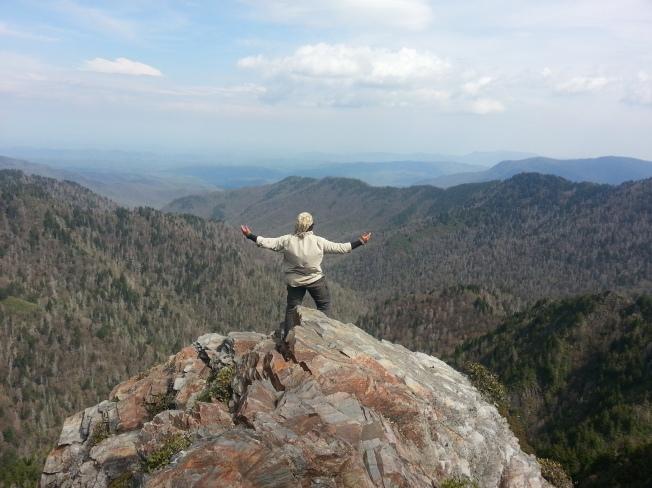 Clingman's Dome (this time as a thru hiker!)